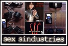 Electrosex tens e-stim SHOCK therapy restraints ,neck to handcuffs violet ray