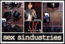 Morsetti decine e-Stim Elettroshock restrizioni sul retro, collo per Manette Ray