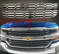 Chrome Mesh Grille Overlay Insert Fitting 16-18 Chevy Silverado 1500 LS LT WT