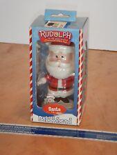 2002 Toysite - Rudolph The Red Nosed Reindeer, Santa Bobblehead Nos