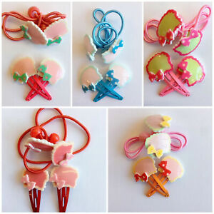 Kids Hair Clips with Band Set Children Cute Various Designs for Girls and baby