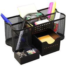 Wire Mesh Desk Organizer Office Table Metal Caddy Black Supplies Storage Drawer