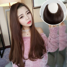3/4 Wig Long Hair Tail Wavy Curly Synthetic Hair U Part Half Wig