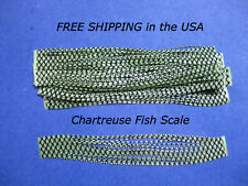 10 Silicone Skirt Tab Chartreuse scale  T293 Lure Craft Bass Spinner Bait Strip