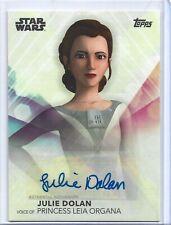 Topps 2020 Women of Star Wars autograph card Julie Dolan