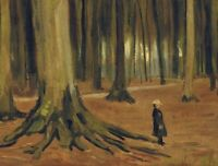 Vincent van Gogh Girl in Woods Fine Art Print on Canvas Home Decor Small 8x10