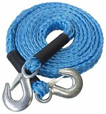 4m TOW ROPE (GS) 2000kg Max Load Tough Forged Steel Hooks Ultra Strong With Flag