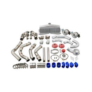 CXRacing Twin Turbo Manifold Intercooler For 65-70 Chevrolet Impala SBC Engine