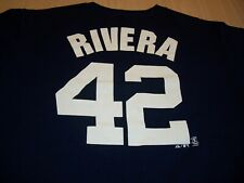 MAJESTIC NEW YORK YANKEES RIVERA BLUE T-SHIRT JERSEY MENS LARGE EXCELLENT