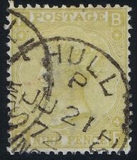 1867 SG 110 9d Straw Plate 4 BF Fine CDS Used Cat. £325.00