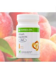 5 x Herbalife Afresh peach Energy Drink  Herbal Tea 50 gm/1.7oz X 5 (250 gms)
