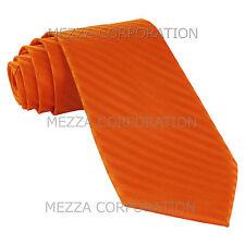 New Vesuvio Napoli Polyester Woven Men's Neck Tie necktie Stripes prom Orange