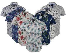 Mens Premium Fashion Hawaiian Floral Shirt Short Sleeve Casual 100% Cotton