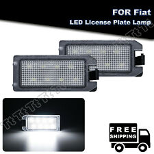 2x LED License Plate Lights For Fiat 500 Dodge Viper Jeep Grand Cherokee/Compass