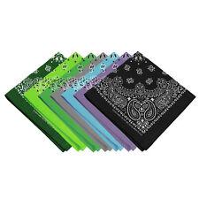"USA Made Premium Cotton Bandana Head Wrap Scarf Multiple Colors 21"" X 21"" 3 Pack"