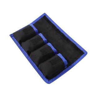 Battery Nylon Carry Case Holder Storage Bag 4 Pouch For LP-E6 NP-FW50 EN-EL50
