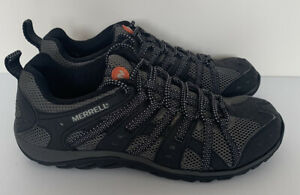 Merrell Ventilated Black Brown Hiking Trek Shoes Mens EU 41.5 UK 7.5 US 8