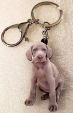 Weimaraner Puppy Realistic Dog Pup Acrylic Key Ring Keychain Jewelry