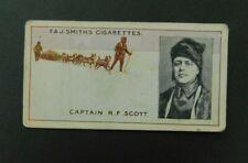 Cigarette Card F.& J.Smith's - Famous Explorers 1911 - Capt. R F Scott  # 9