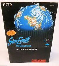 Sim Earth Living Planet SNES Super Nintendo Instruction Manual Booklet Only