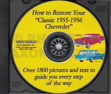 CD-ROM How to Restore Your Classic 1955 1956 Chevrolet Car 1800 Photos Hands On
