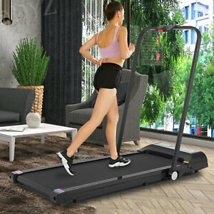 SYTIRY 2 IN 1 Folding Treadmill 2.25HP Power Home Use Electric Running Machine.