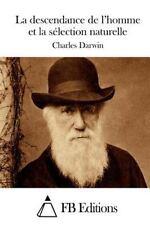 La Descendance de l'homme et la Sélection Naturelle by Charles Darwin (2015,...