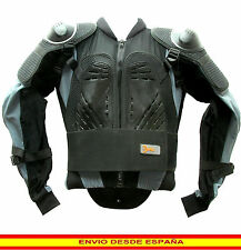 Chaqueta Peto Proteccion CE Espaldera de Moto Motorista, Cross, Quad, Enduro