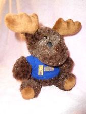"Moose 7"" Stuffed Plush Beasty Babies Blue Shirt Mountain Trail Outdoor School"