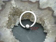 TITANPiercing Ball Closure Ring Intim Tragus Ohr Brust Lippenbändchen Septum 1,2