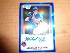2011 Bowman Chrome  MICHAEL FULMER  Autograph Auto BLUE REFRACTOR 150/150  1/1