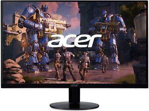 "NEW Acer SB240Y Bbix 23.8"" Ultra-Thin Zero-Frame IPS Monitor FREESYNC Black"