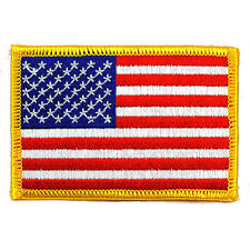 American USA US Flag Embroidered Patch Iron On Sew On Biker Military Tactical