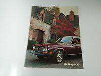 1975 Peugeot 504 Sedan Station Wagon Sales Brochure