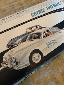 Model slot cars Minic Motorways Crime patrol full set. Plus extra track.