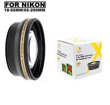 Telephoto Lens for Nikon 18-55mm 55-200mm Lens D5500 D5300 D3300 D3200 D3100 D90