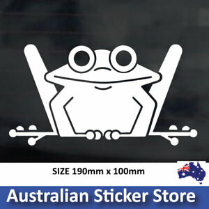 Funny Frog Sticker decal, car , window, laptop, fridge