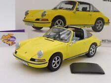 """Schuco 00364 # Porsche 911 S Targa Baujahr 1973 """" gelb """" 1:18 Lim. Ed. 500 Stück"""