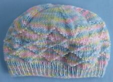 BABY HAND KNITTED HAT, MULTI COLOURED, SUIT NEW BORN TO 3 MONTH OLD
