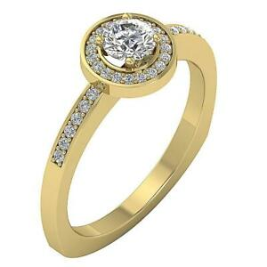Solitaire Engagement Ring White Yellow Rose Gold I1 G Natural Diamond 0.80 Ct