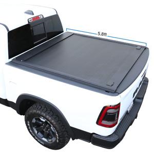Fit 2019-2022 Ram 1500 Retractable Tonneau Cover Hard Waterproof Aluminum 5.7ft