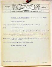 1925 ITINERAIRE MICHELIN SOISSONS VILLERS COTTERETS CARTE BIBENDUM