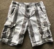Levis Plaid Cargo Shorts Mens 31 White Gray Tag