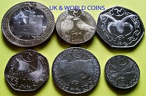 IOM Manx Isle of Man Uncirculated 6x Coin Set