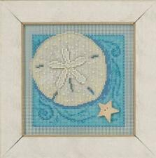Sand Dollar Cross Stitch Kit Mill Hill 2016 Buttons & Beads Spring MH141612