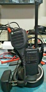 Motorola 16 channel HT750 Programmed with MURS(AAH25KDC9AA3AN) with accessories.