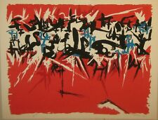 Rare 1955 ANGELO SAVELLI Abstract Expressionist ABEX Signed Lithograph - Listed