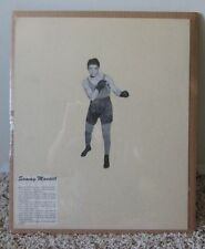 VINTAGE HOME MADE BOXING POSTER SAMMY MANDELL MATTED & SHRINK WRAPPED