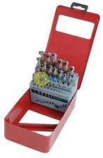 25 Piece HSS High Speed Steel Metal Drill Bit Set Tool 1 - 13 mm & Case