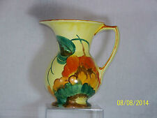 Beswick Art Pottery Hand Painted Art Deco Floral design Pitcher Vase